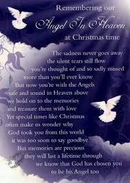 christmas grave card angel in heaven free holderc114 memoriam