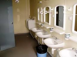 industrial use container for sanitary facilities for