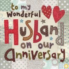 For My Husband On Our Wonderful Husband On Our Anniversary Card Large Luxury