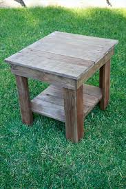 How To Build A Wood End Table by Recovered Pallet End Table Stain It With Chalk Paint Or Antique