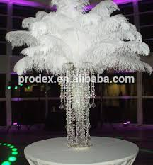 ostrich feather centerpiece black and white ostrich feather centerpiece for wedding decoration