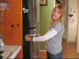 how to child proof your kitchen how to install a fridge lock in