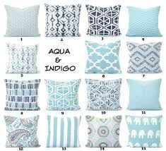 Aqua Navy Pillow Covers Cushions Decorative Throw Pillows Pastel