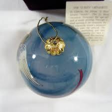 li bien inside painting glass 2003 trumpet angel wings christmas