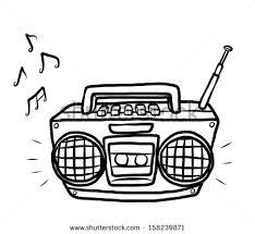 black u0026 white clipart radio pencil and in color black u0026 white