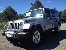 silver jeep 2 door 2015 billet silver metallic jeep wrangler unlimited sahara 4x4