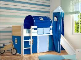 chambre bleu enfant chambre enfant toboggan lit mezzanine enfant toboggan blanc et