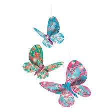 djeco mobile trio of glitter butterflies my small store