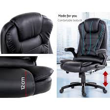 8 point massage office chair racing executive heat recliner