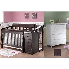 amazon com sorelle tuscany crib and princeton dresser espresso