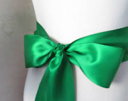 emerald green ribbon emerald sash etsy