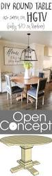 How To Build A Dining Room Table Plans by Best 25 Round Table Top Ideas On Pinterest Painted Round Tables