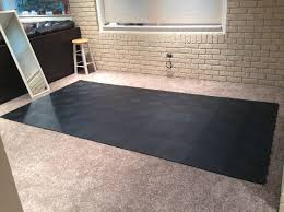 Exercise Floor Mats Over Carpet by Gym Flooring Tiles Staylock Orange Peel Tile
