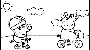 coloring page peppa pig coloring pages coloring page and