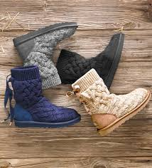 s isla ugg boot ugg australia isla knit boots boots from plow hearth on catalog