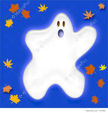 halloween background leaves halloween friendly halloween ghost stock illustration i1470498