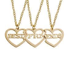 best friends heart necklace images 3 pcs best friends heart stitching pendant necklaces love bff jpg