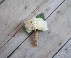 burlap boutonniere boutonnieres kate said yes weddings