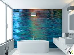 Water Reflections Wall Mural Ideal For The Bathroom  Feature