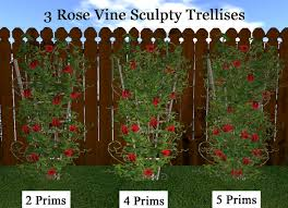 Trellis With Vines Second Life Marketplace 3 Rose Vine Trellises Climbing Vines