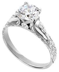 palladium engagement rings palladium engraved engagement ring with diamonds 09 ct tw