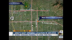Chicago Shootings Map by Chicago Pizzeria Gino U0027s East To Open Restaurant In Phoenix By