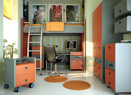 bedroom bunk bed with desk and wardrobe for teen small bedroom ideas