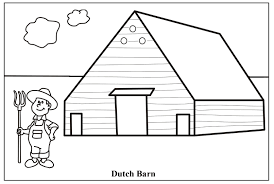 farmhouse coloring page for farm house coloring pages
