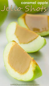 caramel apple jello shots omg chocolate desserts