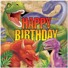 dinosaur birthday dinosaur party happy birthday lunch napkins 16