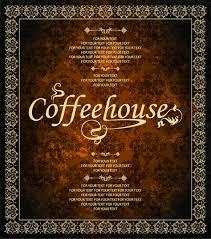 Home Design Vector Free Download Vintage Golden Coffee House Menu Design Vector 04 Vector Cover