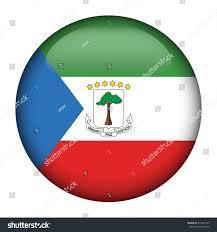 Equatorial Guinea Flag Round Glossy Button Flag Equatorial Guinea Stock Vector 410340145