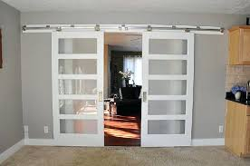 barn doors for homes interior frosted barn door petrun co