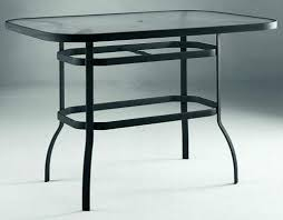 Glass Top Patio Tables Outdoor Bar Height Table Juniorderby Me