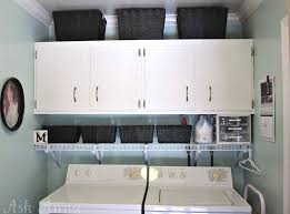 Laundry Room Storage Cabinets Ideas - storage u0026 organization black painted laundry room storage cabinet