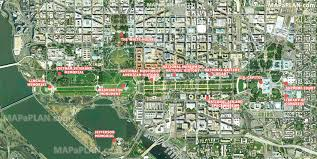 Washington Dc Area Map by Washington Dc Top Tourist Attractions Map 04 Satellite Image