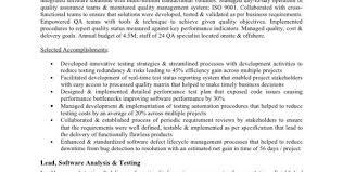 software quality assurance skill resume software quality assurance