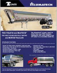 travis trailers alumatech aluminum end dump trailers u0026 bodies