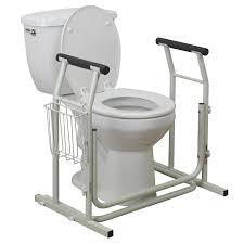 Bathroom Handicap Rails Amazon Com Drive Medical Stand Alone Toilet Safety Rail White