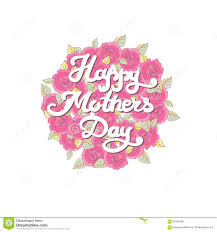 mothers day card happy mom day stock vector image 85905208