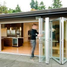 Exterior Folding Patio Doors Folding Exterior Glass Doors Cost Coryc Me