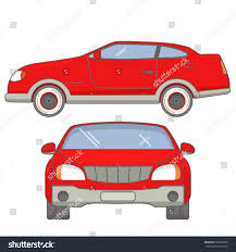 Luxurious Muscle Sports Car Coupe Side Stock Vector 752820235