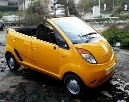 indian car tata spotted tata nano convertible india