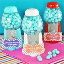 gumball party favors mini gumball machine place card holders 1st birthday favors
