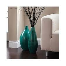 floor decor and more rounded bamboo floor vase expressions hosley teal asian