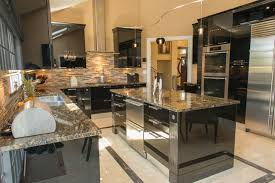 High Gloss Black Kitchen Cabinets Pictures Black Gloss Kitchen Ideas Best Image Libraries