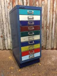 Upcycled Metal Filing Cabinet Upcycled Metal Vintage Industrial Chic Filing Cabinet Drawers Unit