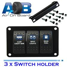 led light bar switch panel switch panel 3500 for 3 x carling type rocker switches