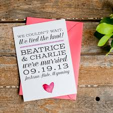 elopement announcements wedding announcements starboard press