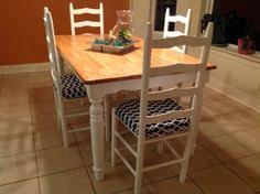 Chairs And Table Legs Painted Black Painted Furniture - Butcher block kitchen tables and chairs